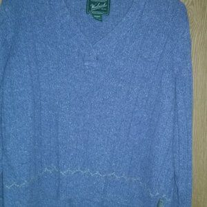 Woolrich blue tweed sweater Size L